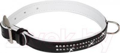 Ошейник Collar Brilliance 3087 (S, черный, со стразами) - общий вид
