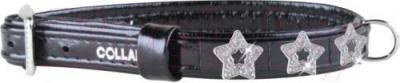 Ошейник Collar Brilliance 3091 (XS, черный, с украшением) - общий вид