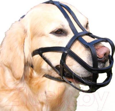 Намордник для собак Trixie Bridle Leather 1877 (XL, черный) - общий вид