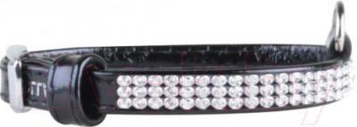 Ошейник Collar Brilliance 3159 (S, черный, с украшением) - общий вид