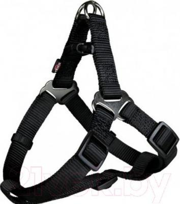 Шлея Trixie Premium Harness 20441 (S, черный) - общий вид