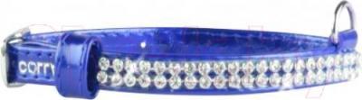 Ошейник Collar Brilliance 33072 (XS, синий, с украшением) - общий вид