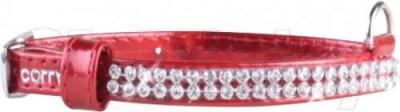 Ошейник Collar Brilliance 33073 (XS, красный, с украшением) - общий вид