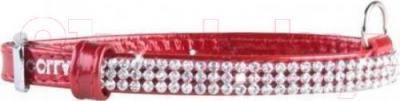 Ошейник Collar Brilliance 33083 (XS, красный, с украшением) - общий вид