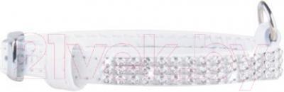 Ошейник Collar Brilliance 3335-1 (XS, белый, с украшением) - общий вид