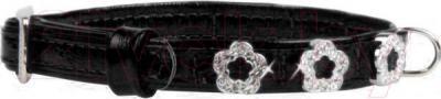 Ошейник Collar Brilliance 38581 (XS, черный, с украшением) - общий вид
