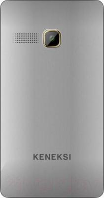 Мобильный телефон Keneksi M2 (серебристый) - вид сзади
