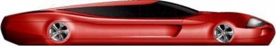 Мобильный телефон Keneksi M5 (красный) - вид сбоку