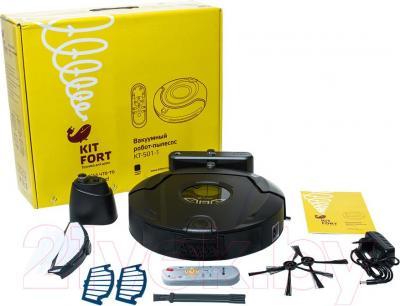 Робот-пылесос Kitfort KT-501 (графит)