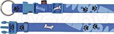 Ошейник Trixie Modern Art Collar Woof 15219 (ХS-S, голубой) - общий вид