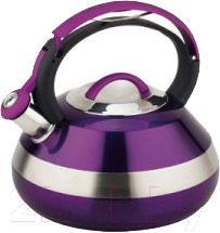 Чайник со свистком Peterhof PH-15593 (фиолетовый) - общий вид