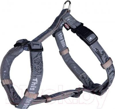 Шлея Trixie Modern Art H-Harness This is the Boss 15752 (XS-S, серый) - общий вид