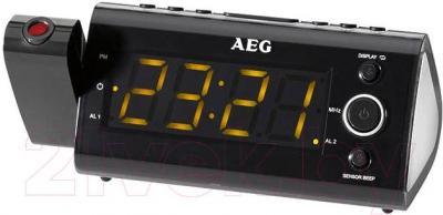 Радиочасы AEG MRC 4121P (Black) - общий вид