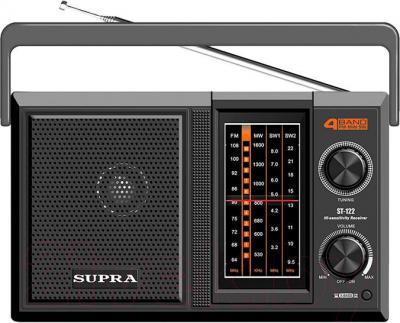 Радиоприемник Supra ST-122 (черный) - общий вид