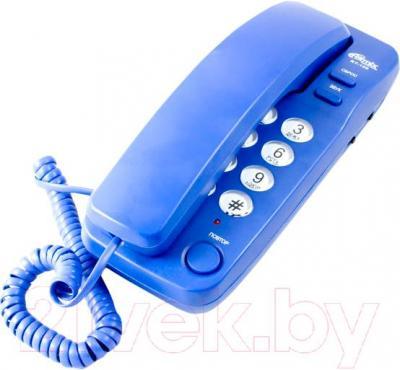 Проводной телефон Ritmix RT-100 (Blue) - общий вид