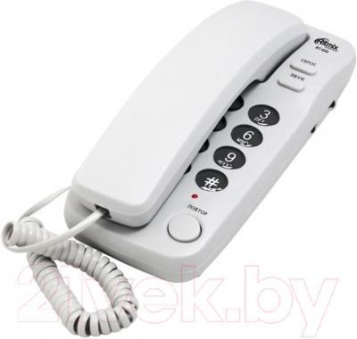 Проводной телефон Ritmix RT-100 (Gray) - общий вид