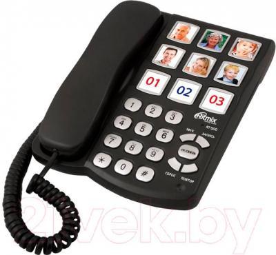 Проводной телефон Ritmix RT-500 (Black) - общий вид