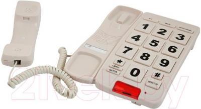 Проводной телефон Ritmix RT-510 (Ivory) - вид с снятой трубкой
