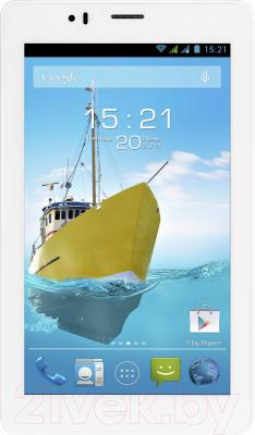 Планшет Fly Flylife Connect 7 4GB 3G (White) - фронтальный вид