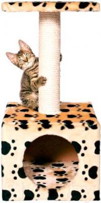 Домик с когтеточкой Trixie Zamora 43354 (бежевый с лапами) - общий вид