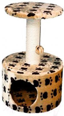 Домик с когтеточкой Trixie Toledo 43704 (бежевый с рисунком) - общий вид