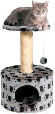 Домик с когтеточкой Trixie Toledo 43705 (серый с рисунком) - общий вид