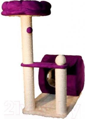 Комплекс для кошек Trixie My Kitty Darling 44911 (кремово-фиолетовый) - общий вид