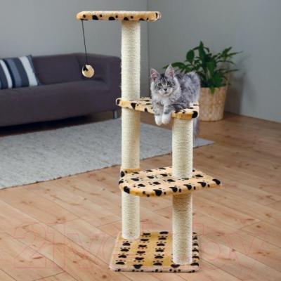 Комплекс для кошек Trixie Altea 43884 (бежевый с лапами) - общий вид