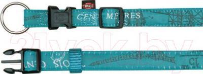 Ошейник Trixie Modern Art Collar Paris 13828 (S-M, бирюзовый) - общий вид