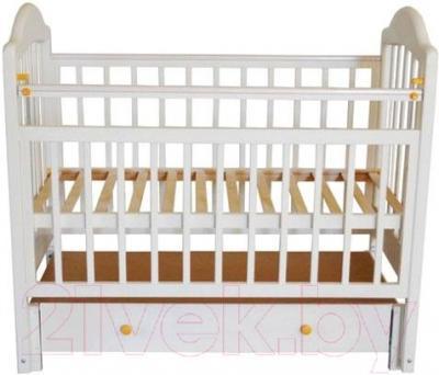 Детская кроватка Эстель 10 ПП (белый) - общий вид