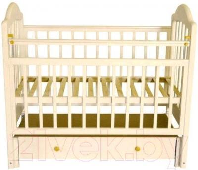 Детская кроватка Эстель 10 ПП (Слоновая кость) - общий вид