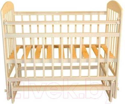 Детская кроватка Эстель 9 ПД (слоновая кость) - общий вид