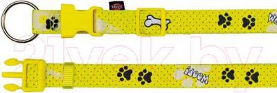 Ошейник Trixie Modern Art Collar Woof 15189 (ХS-S, желтый) - общий вид