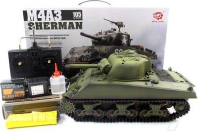 Игрушка на пульте управления Heng Long Танк USA Sherman (3898-1) - комплект