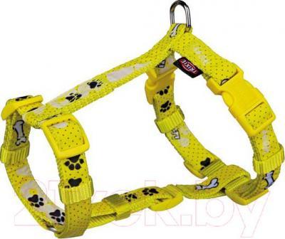 Шлея Trixie Modern Art H-Harness Woof 15193 (ХXS-XS, желтый) - общий вид