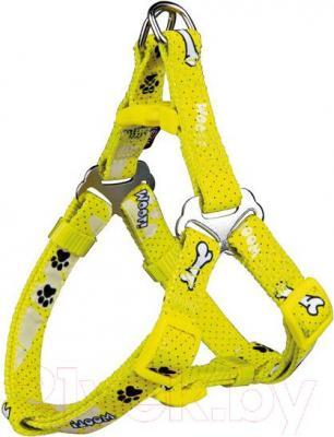 Шлея Trixie Modern Art Harness Woof 15201 (ХS-S, желтый) - общий вид