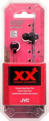 Наушники JVC HA-FX101-PEF - в упаковке
