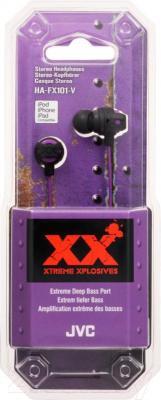 Наушники JVC HA-FX101-VEF - в упаковке
