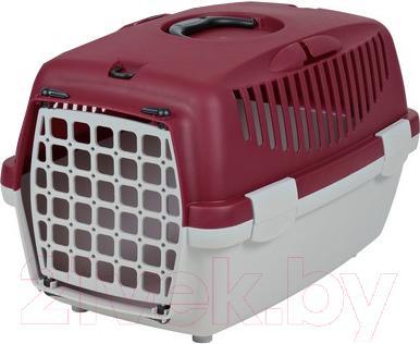 Переноска для животных Trixie Traveller Capri II 39823 (светло-серый/красный) - общий вид