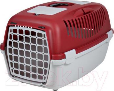 Переноска для животных Trixie Traveller Capri III 39833 (серо-красный) - общий вид