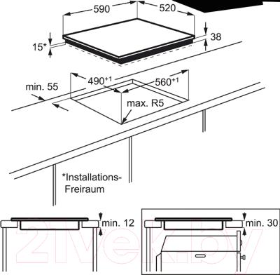 Электрическая варочная панель Electrolux EHF96547FK
