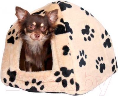 Домик для животных Trixie Sheila 3698 (бежевый с лапами) - общий вид