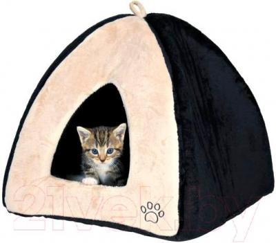 Домик для животных Trixie Gina 36347 (бежево-черный) - общий вид