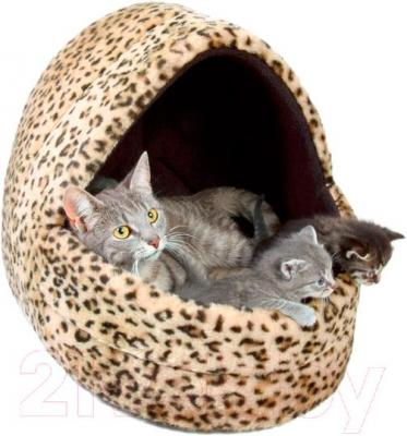 Домик для животных Trixie Leo 3626 (леопардово-коричневый) - общий вид