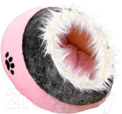 Домик для животных Trixie Minou 36301 (серо-розовый) - общий вид