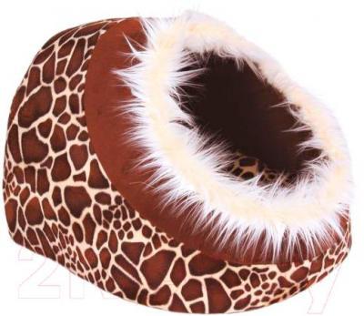 Домик для животных Trixie Minou 36302 (леопардово-коричневый) - общий вид