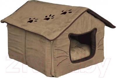 Домик для животных Trixie Hilla 36334 (песочный/темно-коричневый) - общий вид
