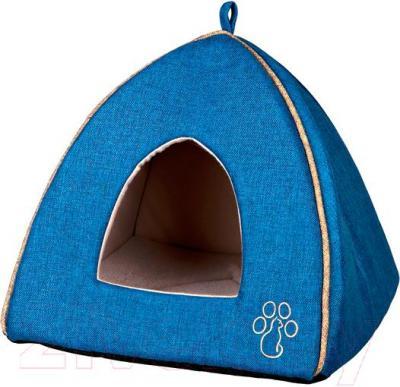 Домик для животных Trixie Pyra 36337 (бежево-голубой) - общий вид