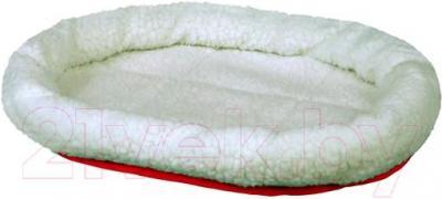 Лежанка для животных Trixie Kuschelbett 28631 (бело-красный) - общий вид
