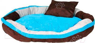 Лежанка для животных Trixie Bonzo 37726 (коричнево-бирюзово-серый) - общий вид